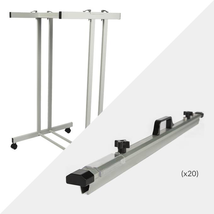 Draftex A0 Plan Trolley (20 Clamp Capacity) and 20x Draftex A0 Plan Clamps ( PFP10 )
