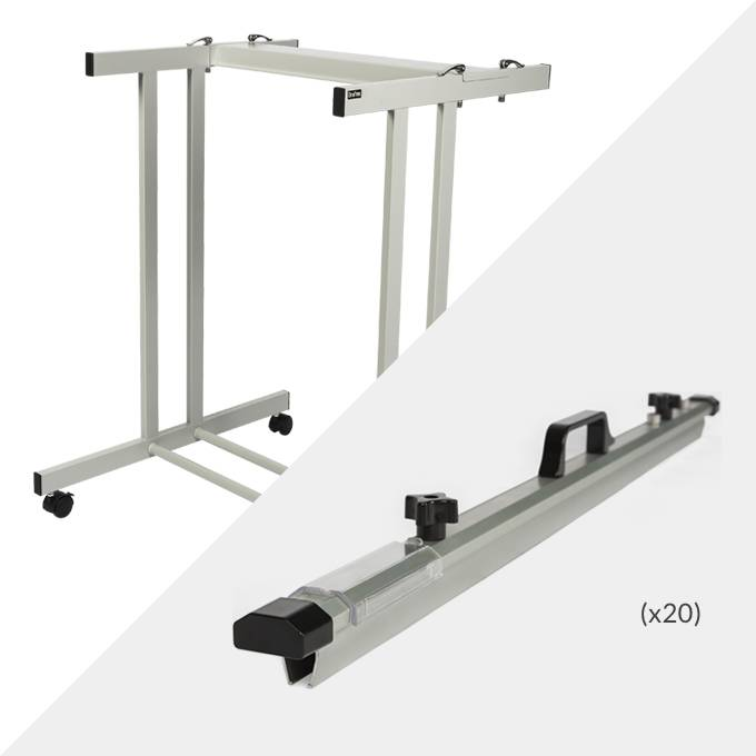 Draftex A1 Plan Trolley (20 Clamp Capacity) and 20x Draftex A1 Plan Clamps ( PFP4 )