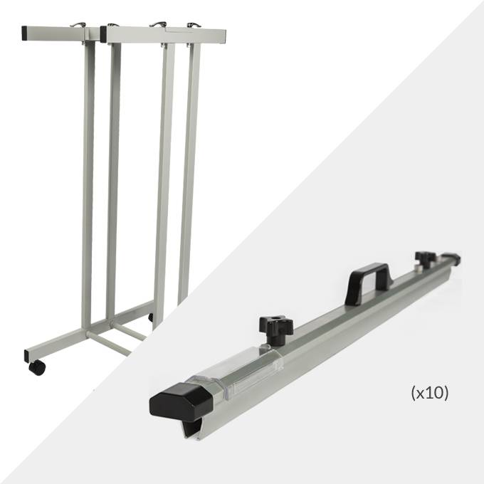Draftex A0 Plan Trolley (10 Clamp Capacity) and 10x Draftex A0 Plan Clamps ( PFP8 )