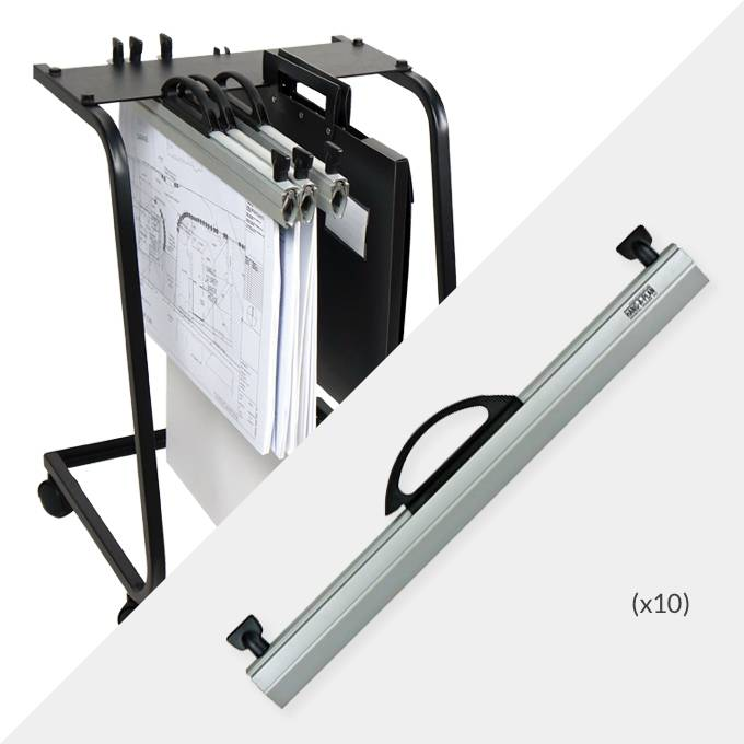 Hang-A-Plan A2 Plan Trolley and 10x A2 General binders ( D002 )