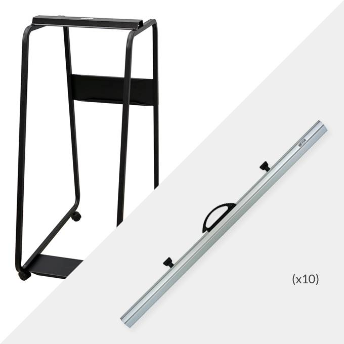 Hang-A-Plan A0 Plan Trolley and 10 x A0 Binders ( D009 )