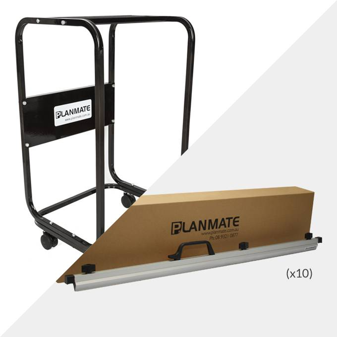 Planmate A0 MAXI Plan Trolley and 10x A0 Plan Clamps ( PMB2 )
